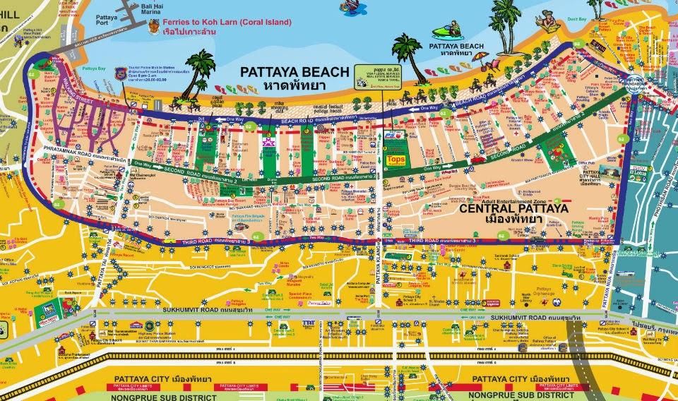 Overall Tourist map for pattaya! - Pattaya Unplugged