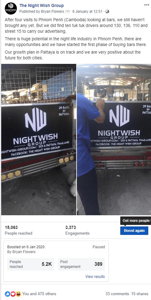 night wish group in phnom penh